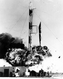 Vanguard rocket explodes