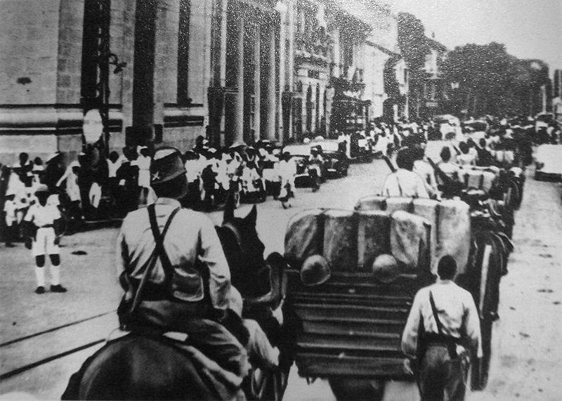 Japanese invasion of french indochina yellowstone 1936 800px japanese troops entering saigon in 1941 publicscrutiny Choice Image