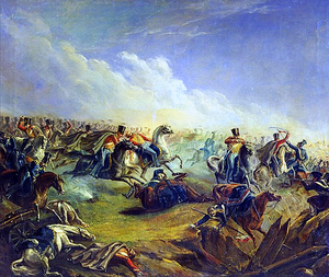 Russian Guard Hussars attacking Warsaw 7th September 1831