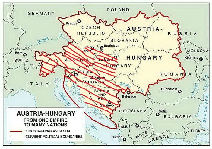 Image World war i 19141918 austriahungary mapjpg