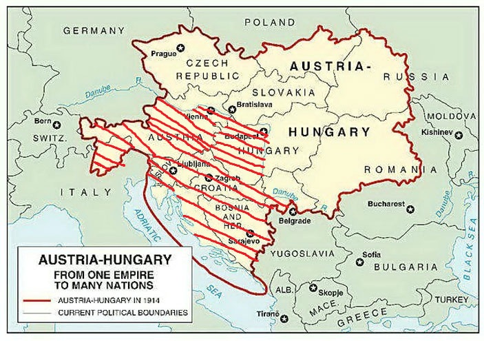 World War I 1914 1918 Austria Hungary Map
