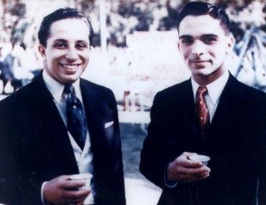 King Faisal and King Hussein 2 1957
