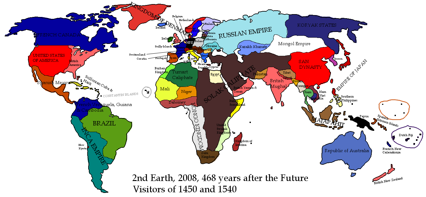 Alternate Earth Map.2nd Alternate Earth 2008 Alternative History Fandom Powered