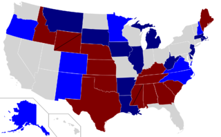 2008 Senate election results map