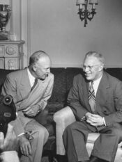 Governor-earl-warren-talking-with-dwight-d-eisenhower-during-the-convention