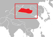 Kanato de mongolia mapa