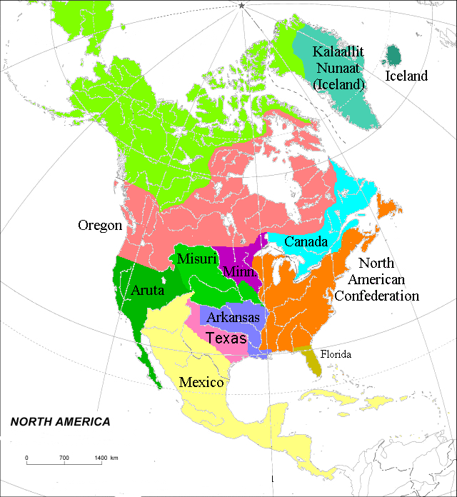 North America Toyotomi Alternative History FANDOM - Map of america