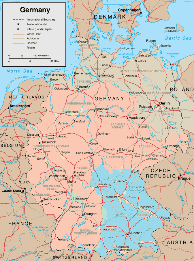 map og germany and the kingdom of bavaria in 1936