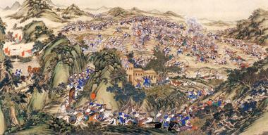 Сражение между тайпинами и кашгарцами