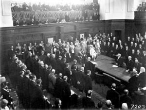 Scene inside the Senate Chamber at opening of Parliament House by the Duke of York with the Duchess of York.jpg