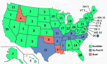 United States Presidential Election America Type Beta - 1992 election us map