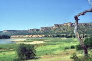 Zimbabwe Gonarezhou Landscape Chilojo Cliffs