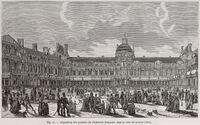 Exposition des produits de l'industrie française, dans la cour du Louvre, 1801