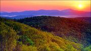 Sunrise mountain north carolina