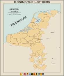 Map Lotharingen Circa 1500