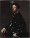 Titian - Portrait of a Man Holding a Book, about 1540