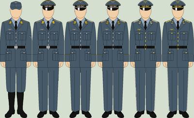 Die luftwaffe service uniforms