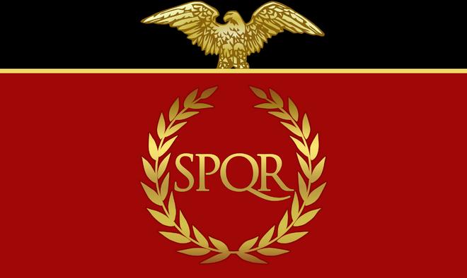 Rome flag spqr