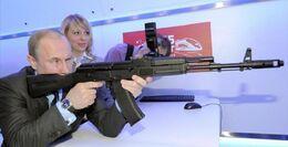 Vladimir putin with gun