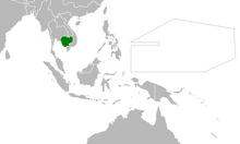 Location of Cambodia (Myomi Republic)