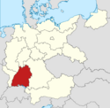 Locator map Swabia in Germany (IM)