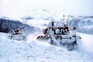 Norwegian Leopard 1A1N tanks in Finnmark