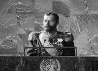 Николай II на трибуне ООН
