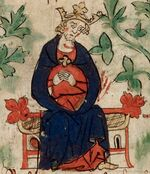 Henry I - British Library Royal 20 A ii f6v (detail)