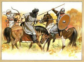 Арабские и франские всадники