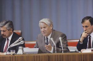 Руцкой, Ельцин и Бурбулис