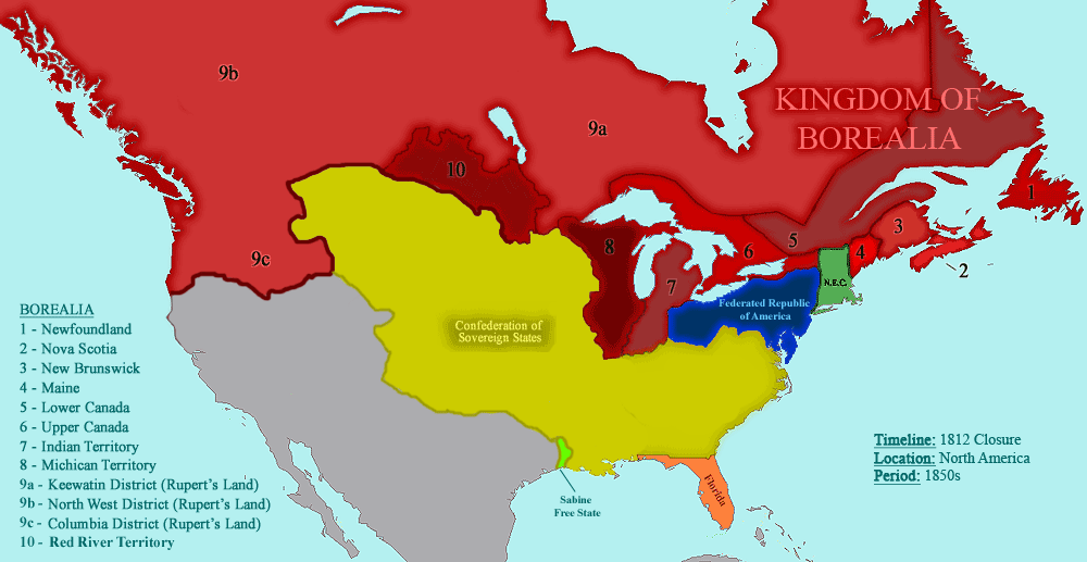 Category Closure Alternative History FANDOM Powered By Wikia - Map of us in 1812