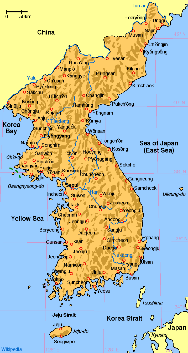 Map Of Korea Image   Map of korea en.png | Alternative History | FANDOM powered  Map Of Korea