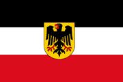 Новый флаг Веймарской республики