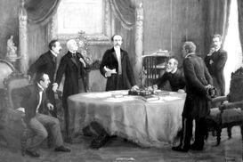 Balmaceda y ministros