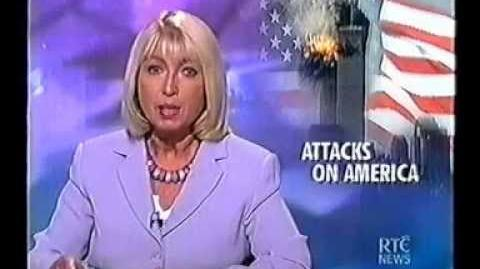 Ireland's RTE News Live Coverage of September 11th 2001 Attacks