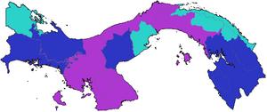 Mapa Elecciones Panamá 2019 (CNS)