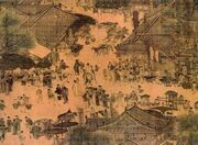 800px-Along the River During the Qingming Festival (detail of original)