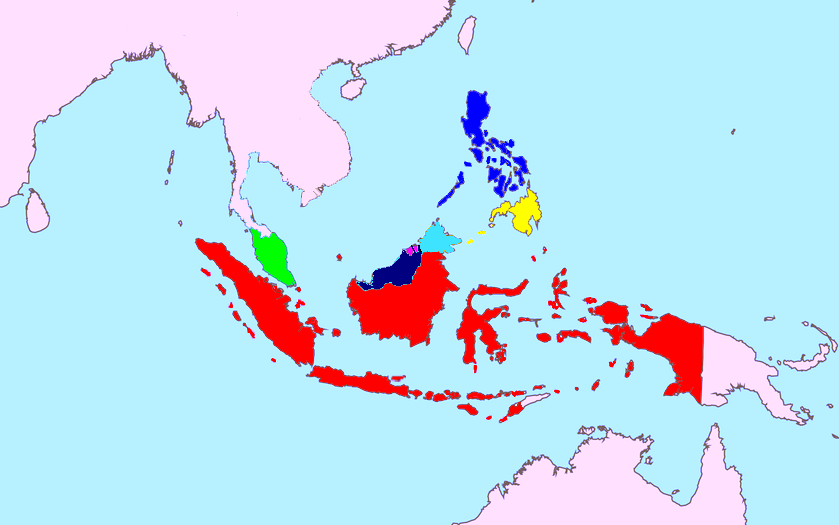 Unified Map Of Maritime Southeast Asia Unified Map Of Maritime Southeast Asia Location Of Dutch East In S