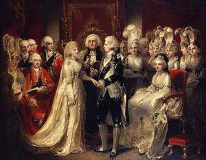 Свадьба Георга принца Уэльского и Каролины Брауншвейгской
