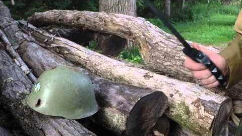 Can an M1917 WW1 Trench Knife Go Through a Helmet?