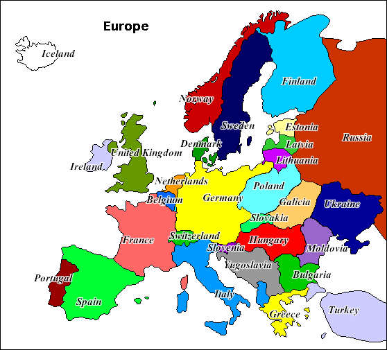 Map Of Europe Today Map Of Europe Today
