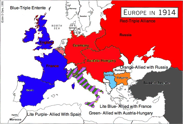 Alliances Made In Europe Before World War 1