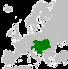 Austria-Hungary Locator (1914)