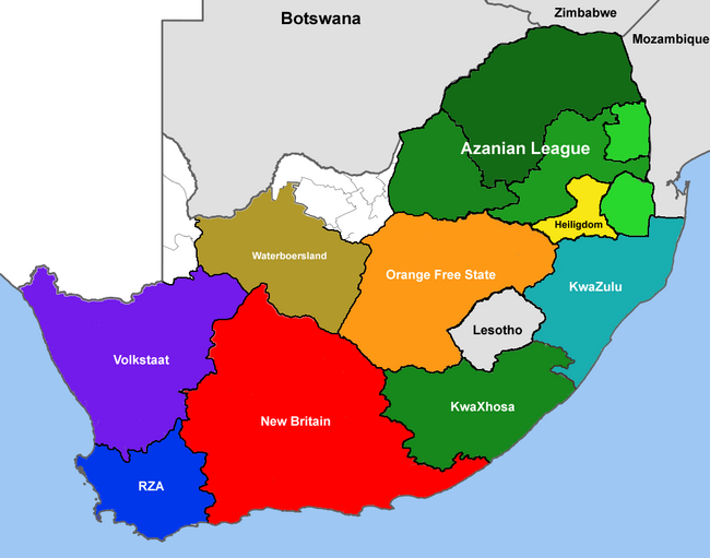 DD South Africa Map 2015