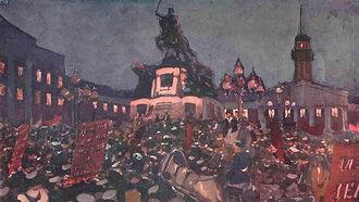 Митинг перед памятником