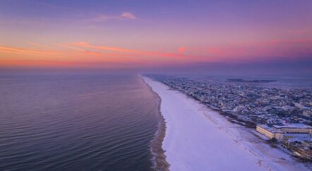 Aerial view of Long Beach Island NJ at sunset Michael Ver Sprill photography