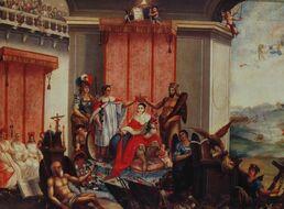 Alegoría de la coronación de Iturbide I el 21 de julio de 1822