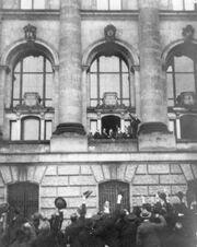 Ausrufung Republik Scheidemann