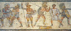 Gladiators from the Zliten mosaic wiki frei