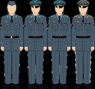 Reichasdler space program duty uniforms